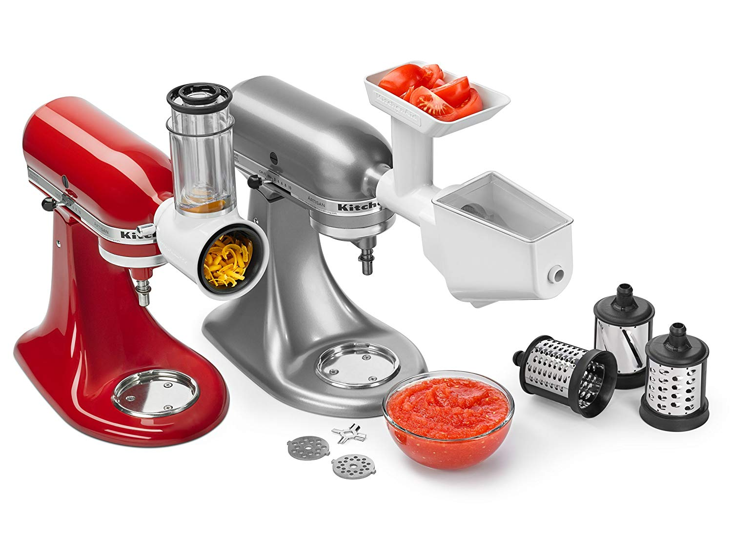 Slicer/Shredder + Grinder/Strainer Attachment Pack - KSMFPPA