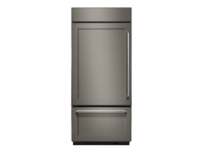 "36"" KitchenAid 20.9 Cu. Ft. Built-In Panel Ready Platinum Interior Bottom Mount Refrigerator - KBBL306EPA"