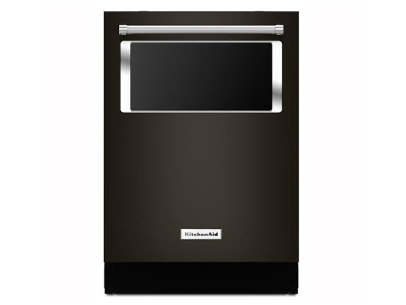 "24"" KichenAid 44 dBA Dishwasher with Window and Lighted Interior - KDTM384EBS"