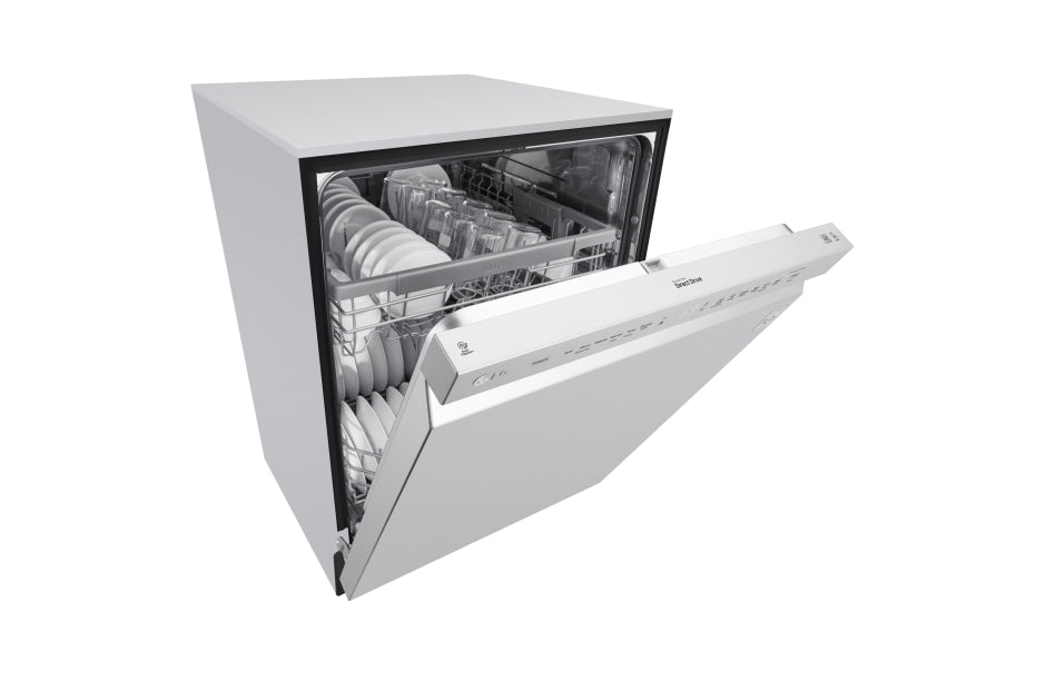 "24"" LG 48 dB Front Control Dishwasher with QuadWash and Inverter DirectDrive Motor LDF5545ST"