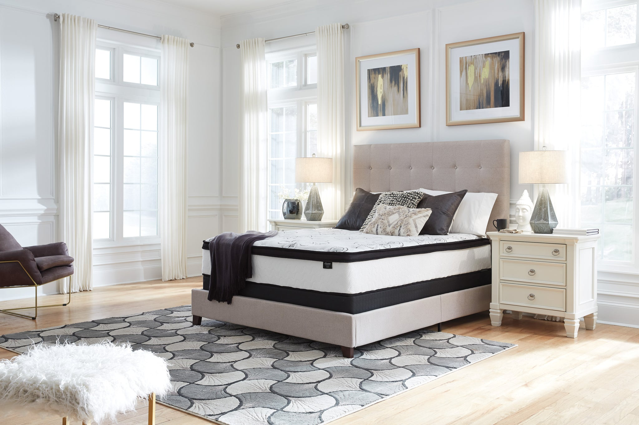 Ashley Sleep M69731  Chime 12 Inch Hybrid - White Collection -Queen Mattress