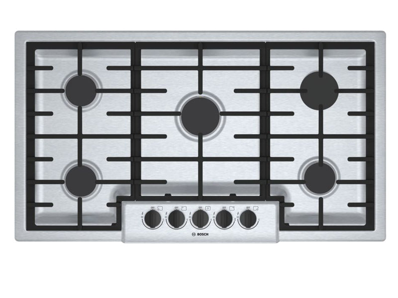 "37"" Bosch 500 Series Gas Cooktop 5 Burner-NGM5656UC"