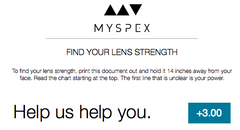 Find Your Lens Strength Chart
