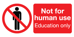 Not for human use / Education only labels (3 sizes)