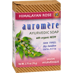 Auromere Ayurvedic Bar Soap Himalayan Rose - Start Living Natural