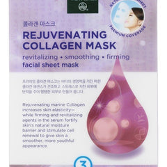 Earth Therapeutics Mask - Sheet - Rejuvenating Collagen - 3 Masks - Start Living Natural
