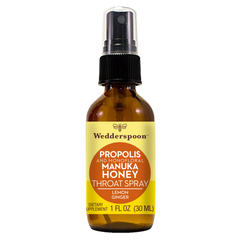 Wedderspoon - Propolis and Manuka Honey Throat Spray - Lemon Ginger - Start Living Natural