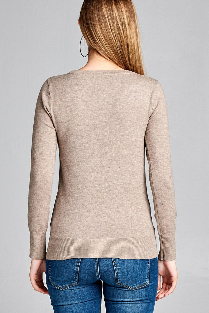 Crew Neck Classic Sweater
