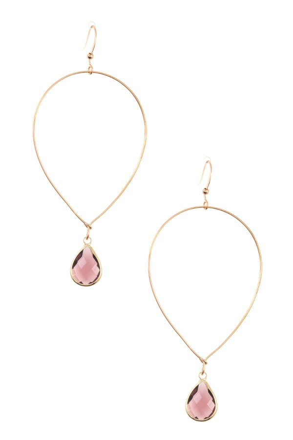 Gem Teardrop Earring