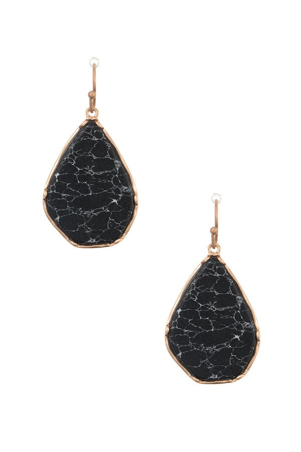 Framed Stone Earring