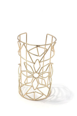 Floral cut out cuff bracelet - Start Living Natural