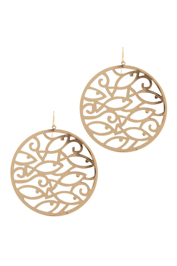 Circle Cut Out Earring