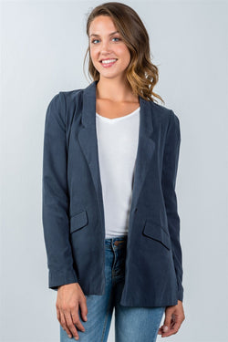 One Button Closure Blazer - Start Living Natural