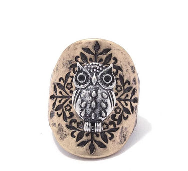 Owl Stretch Ring - Start Living Natural