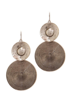 Rustic Double Circle Drop Earring - Start Living Natural