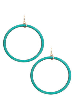 Wooded Hoop Earring - Start Living Natural