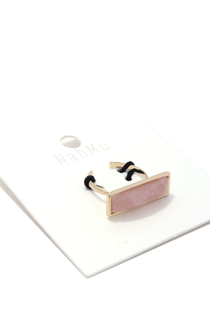 Rectangular Stone Cuff Ring