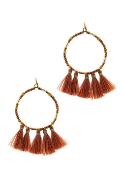 Chic Multi Tassel Hoop Earring - Start Living Natural