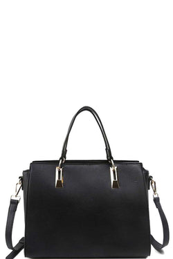 Modern Chic Satchel With Long Strap