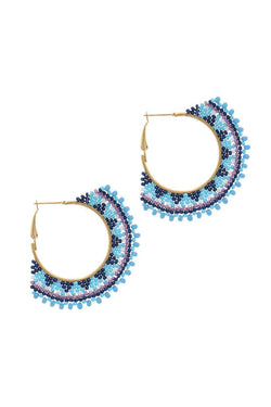 Beaded Hoop Earring - Start Living Natural