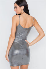 Metallic Cami Dress - Tulip Hem