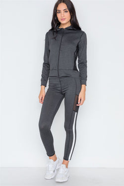 Active Two Piece Legging Jacket Set