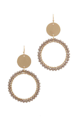 Metal Circle Beaded Ring Earring - Start Living Natural
