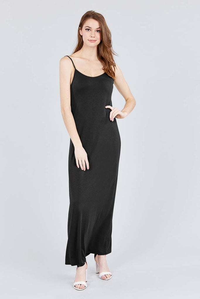Cami Maxi Dress - Double V-neck