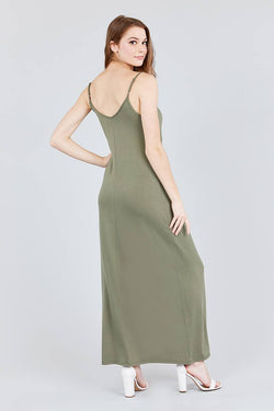 Cami Maxi Dress - Double V-neck - Start Living Natural