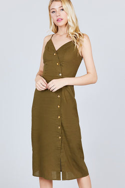 Midi Linen Dress - Start Living Natural