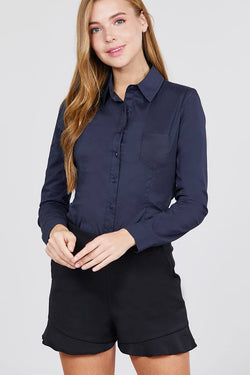 Princess Lined Woven Button Down Shirt - Start Living Natural