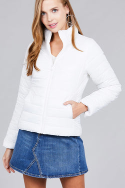 Long Sleeve Quilted Padding Jacket - Start Living Natural