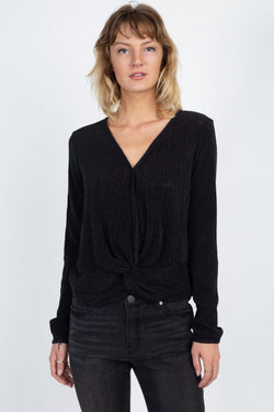 Twist Hem Brushed Knit Top - Start Living Natural