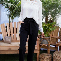 Ruffle High Waisted Pants - Start Living Natural