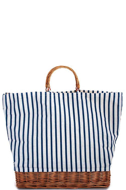 Natural Straw And Striped Tote Bag - Start Living Natural