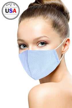 Breathable Cotton Stripe Reusable Face Mask - Start Living Natural