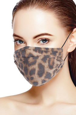 Leopard Print 3d Reusable Face Mask - Start Living Natural