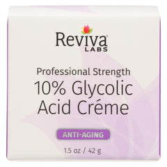 Reviva Labs 10% Glycolic Acid Renaissance Cream - 1.5 Oz - Reviva - Start Living Natural