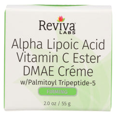 Reviva Labs Alpha Lipoic Acid Vitamin C Ester And Dmae Cream - Start Living Natural