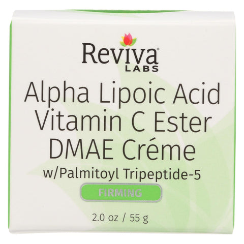 Reviva Labs Alpha Lipoic Acid Vitamin C Ester And Dmae Cream - 2 Oz