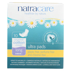 Natural UItra Pads w/wings - Long w/organic cotton cover - 10 Pack - Natracare - Start Living Natural