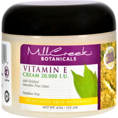 Mill Creek Botanicals Vitamin E Cream - 20000 Iu - 4 Oz - Mill Creek - Start Living Natural