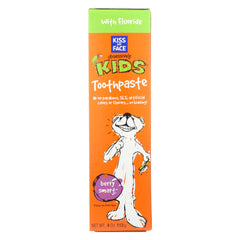 Kiss My Face Kids Toothpaste With Fluoride Berry Smart
