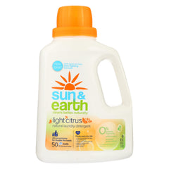 Natural Laundry Detergent - Light Citrus - Sun and Earth - Start Living Natural
