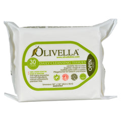 Olivella Daily Facial Cleansing Tissues - 30 Tissues - Olivella - Start Living Natural