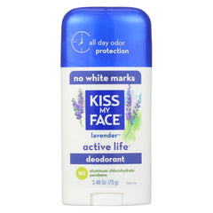 Kiss My Face Active Life Deodorant Lavender - Start Living Natural