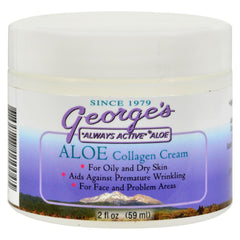 George's Aloe Vera Collagen Cream - 2 Oz