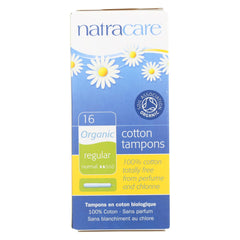 Natracare 100% Organic Cotton Tampons Regular W- Applicator - 16 Tampons - Natracare - Start Living Natural