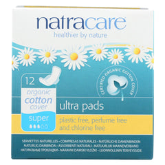 Natracare Natural Ultra Pads W-wings W-organic Cotton Cover - Super