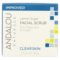 Andalou Naturals Clarifying Facial Scrub Lemon Sugar - 1.7 Fl Oz - Andalou Naturals - Start Living Natural